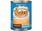 Nutro Tender Chicken & Rice Recipe Can Large Breed Puppy Food 12ea/12.5oz