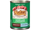 Nutro Savory Lamb & Rice Chunks In Gravy Can Large Breed Puppy Food 12ea/12.5oz