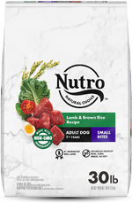 NUTRO WHOLESOME ESSENTIALS Small Bites Pasture-Fed Lamb & Rice Recipe Adult Dry Dog Food 30 Pounds