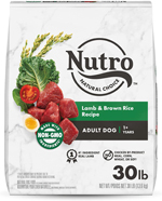 NUTRO WHOLESOME ESSENTIALS Pasture-Fed Lamb & Rice Recipe Adult Dry Dog Food 30 Pounds