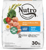 NUTRO WHOLESOME ESSENTIALS Farm-Raised Chicken, Brown Rice & Sweet Potato Recipe Large Breed Puppy Dry Dog Food 30 Pounds