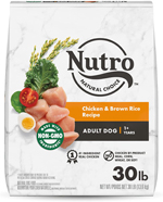 NUTRO WHOLESOME ESSENTIALS Farm-Raised Chicken, Brown Rice & Sweet Potato Recipe Adult Dry Dog Food 30 Pounds