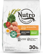 NUTRO WHOLESOME ESSENTIALS Healthy Weight Farm-Raised Chicken, Lentils & Sweet Potato Recipe Adult Dry Dog Food 30 Pounds