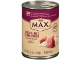 Max Chicken Rice & Lamb Dinner Can Dog Food 12ea/12.5oz