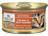 Max Chicken & Liver Formula Can Kitten Food 24ea/3oz