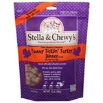 Stella & Chewys Cat Freeze Dried Tummy Ticklin' Turkey Dinner 18 Oz.