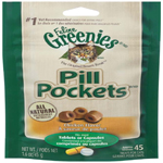 Greenies Pill Pockets Treats for Cats Chicken Flavor - 1.6 oz. 45 Treats