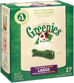 GREENIES Original Large Dog Dental Chews - 27 Ounces 17 Treats