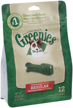 GREENIES Original Regular Size Dog Dental Chews - 12 Ounces 12 Treats