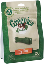 GREENIES Original Petite Dog Dental Chews - 12 Ounces 20 Treats