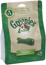 GREENIES Original TEENIE Dog Dental Chews - 12 Ounces 43 Treats