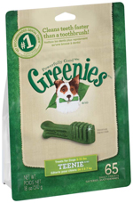 GREENIES Original TEENIE Dog Dental Chews - 18 Ounces 65 Treats