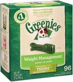 GREENIES Weight Management TEENIE Dental Dog Chews - 27 Ounces 96 Treats