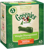GREENIES Weight Management Petite Dental Dog Chews - 27 Ounces 45 Treats