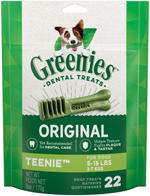 GREENIES Original TEENIE Dog Dental Chews - 6 Ounces 22 Treats