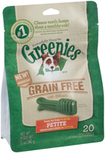 GREENIES Grain-free Petite Dog Dental Chews - 12 Ounces 20 Treats