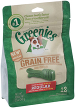 GREENIES Grain-free Regular Size Dog Dental Chews - 12 Ounces 12 Treats