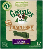 GREENIES Grain-free Large Dog Dental Chews - 27 Ounces 17 Treats
