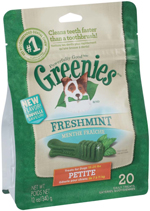 GREENIES Fresh Petite Dog Dental Chews - 12 Ounces 20 Treats