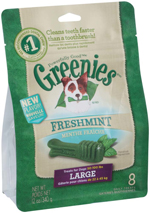GREENIES Fresh Large Dog Dental Chews - 12 Ounces 8 Treats