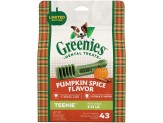 GREENIES Pumpkin Spice Flavor TEENIE Dog Dental Chews 12 Ounces 22 Treats