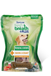 Tropiclean Fresh Breath Dog Dental Treat Skin Medium 10Ct