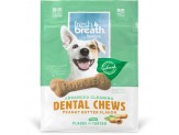Fresh Breath by TropiClean Dental Chew Peanut Butter Dog Treat 5-25lb Small 20ct