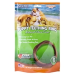 N-Bone Puppy Teething Ring Pumpkin Flavor 6 pack