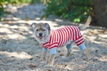 Ethical Pet Striped Pajama Red Extra Small