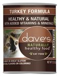 Daves Naturally Healthy Cat Food, Turkey Formula Case of 12
