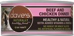 Daves Naturally Healthy Cat Food, Beef & Chicken Dinner   Case of 24