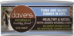 Daves Naturally Healthy Cat Food, Tuna and Salmon Dinner in Aspic Case of 24
