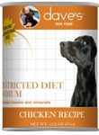 Dave Dog Restricted Diet Low Sodium Chicken  13 oz. Case of 12