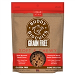 Cloud Star Grain-Free Soft & Chewy Buddy Biscuits with Slow Roasted Beef Dog Treats, 5-oz. bag