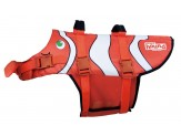 Outward Hound Outward Hound Fun Fish Dog Life Jacket Life Preserver for Dogs, X-Large, Orange