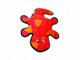 Outward Hound Invincibles Gecko Red/Orange 2 Squeakers