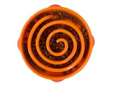 Outward Hound Outward Hound Fun Feeder Dog Bowl Slow Feeder Stop Bloat for Dogs, Large, Orange