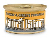 Natural Balance Turkey & Giblets Formula Canned Cat Food 3oz  (Case of 24)