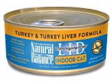 Natural Balance LID Indoor Cat Turkey & Turkey Liver Formula 5.5oz /24pk