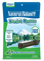Natural Balance Dental Chews Fresh & Clean Formula Medium 13oz