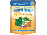 Natural Balance Platefulls Turkey Chicken & Duck Formula in Gravy Cat Food (Case of 24)