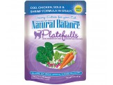 Natural Balance Platefulls Cod Chicken Sole & Shrimp Formula in Gravy Cat Food  (Case of 24)