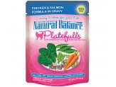 Natural Balance Platefulls Chicken & Salmon Formula in Gravy Cat Food  (Case of 24)
