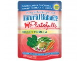 Natural Balance Platefulls Indoor Salmon Tuna Chicken & Shrimp in Gravy Cat Food  (Case of 24)