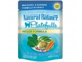 Natural Balance Platefulls Indoor Mackerel & Sardine Formula in Gravy Cat Food  (Case of 24)