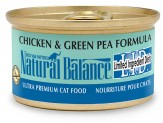 Natural Balance LID Chicken & Green Pea Formula Canned Cat Food 24/5.5oz