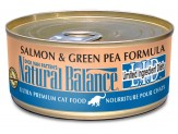 Natural Balance LID Salmon & Green Pea Formula Canned Cat Food 24/5.5oz