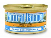 Natural Balance Turkey & Giblets Formula Canned Cat Food 24/5.5oz
