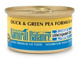 Natural Balance LID Duck & Green Pea Formula Canned Cat Food 24/5.5oz