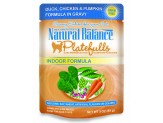Natural Balance Platefulls Indoor Duck/Chicken/Pumpkin in Gravy Cat Food 3oz  (Case of 24)